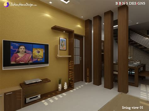 Home Interior Plan by Modern Living Room With Wooden Partition Design Ideas By