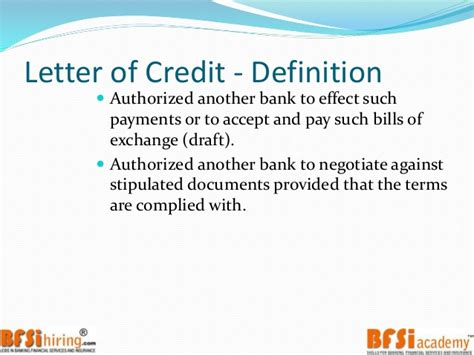 Letter Of Credit Drawee Definition Trade Finance Letter Of Credit
