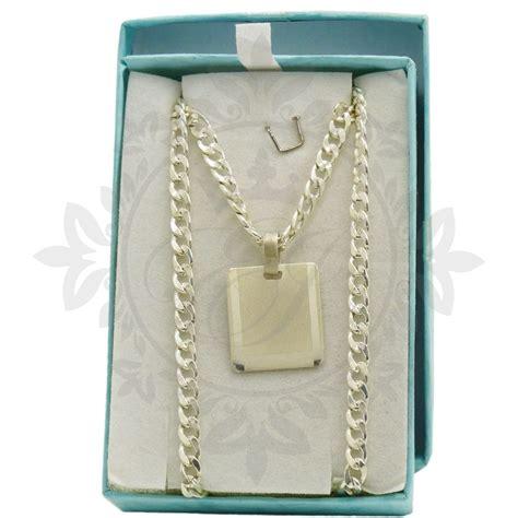 cadenas de plata para hombre rosario conjunto hombre de plata 925 con medalla para grabar