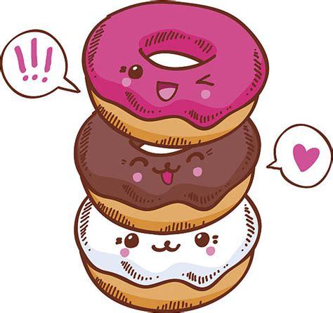imagenes de rosquillas kawaii grafika wektorowa ikony ilustracje kawaii na licencji