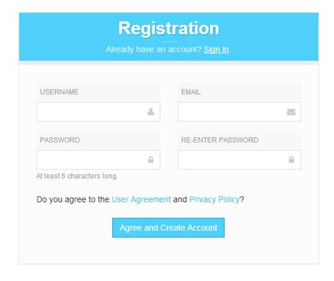 bootstrap templates for signup form 8 free bootstrap signup registration form templates