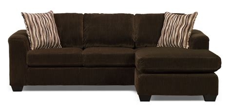 chocolate brown sectional sofa with chaise nina 2 piece corded microsuede sectional with chaise
