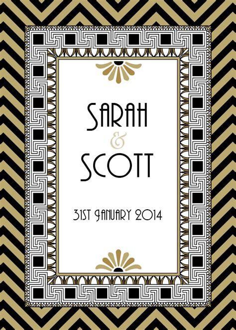 gatsby border template wedding invitation design wedding ideas dreamday