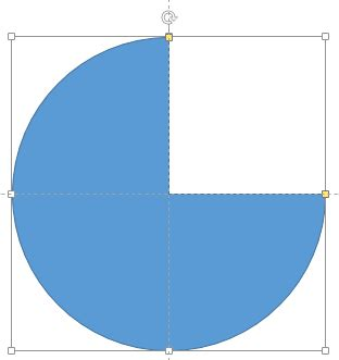 Square Pie In The Eco Circle by Creating Semi Circles In Powerpoint 2013 Windows