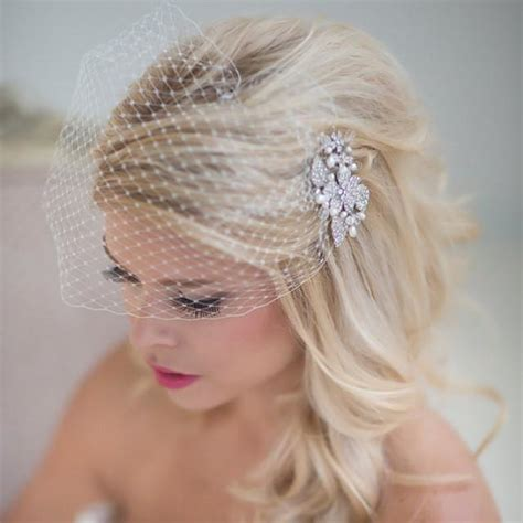 7 Birdcage Veils To Rock For Your Wedding by Accessories Birdcage Veil Wedding Veil Bridal Veil
