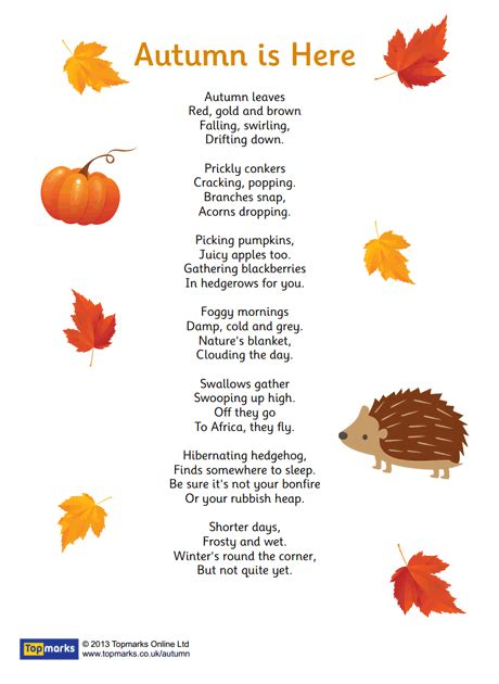 autumn is here quot autumn is here quot inspirational poem for use in the primary classroom fall