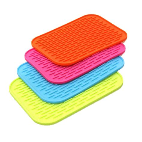 Kitchen Heat Pad insulation mats heat pad rectangle non slip soft silicone