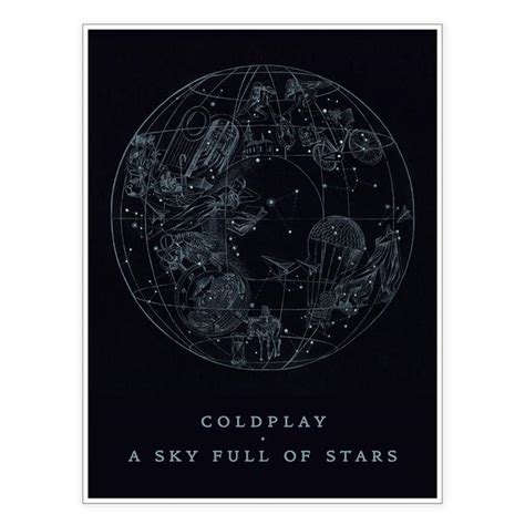 coldplay sky full of stars coldplay a sky full of stars lithograph