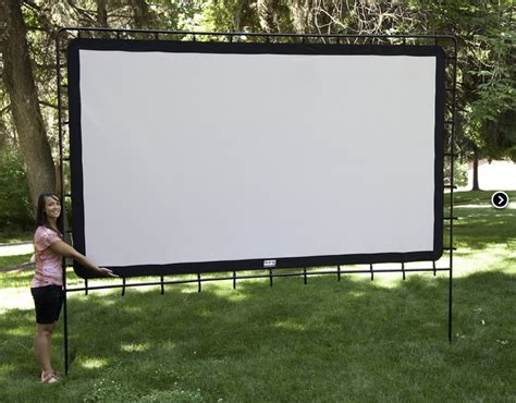 backyard big screen amazon com c chef os 144 indoor outdoor movie screen