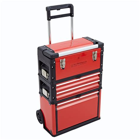 Portable Drawers by 3 In 1 Trolley Tool Box Set 4 Drawers Boxes Storage Cabinet Portable Wheel Steel Ebay