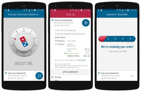 domino pizza app domino s zero click app orders pizza by opening it