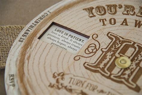 wood wedding invitations wonderful wood wedding invitations theruntime