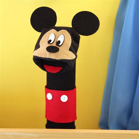 diy sock mouse mickey sock puppet disney family