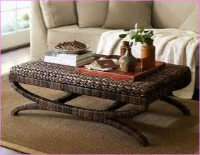 seagrass bench pottery barn seagrass coffee table with stools home design ideas