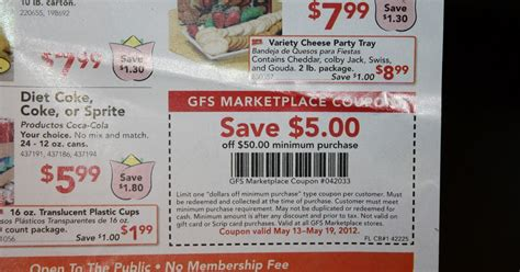 printable gordon food service coupons divalicious couponing 5 off of 50 gfs coupon in today