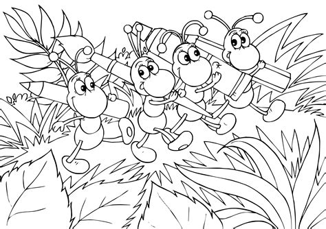 ant coloring page free printable ant coloring pages coloring home