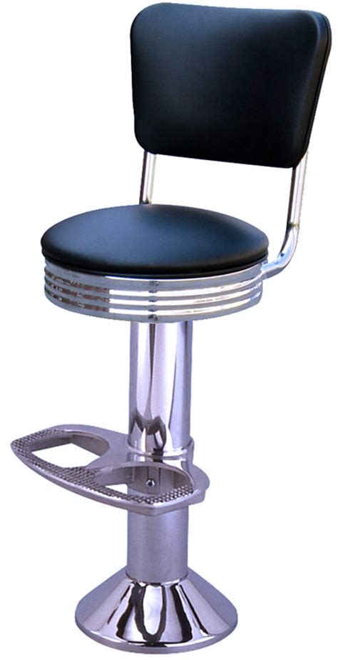 Floor Mounted Diner Stools by Mounted Chrome Diner Bar Stool With Back Floor Mounted