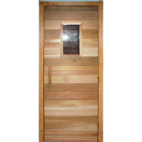Residential Sauna Door With 10 Quot X 18 Quot Window Sauna Glass Door