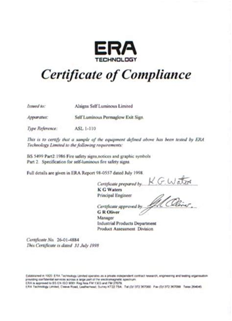 certificate of manufacture template alsigns surelite division certificate of compliance