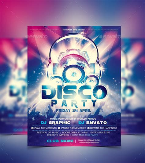 disco template 15 disco flyer templates free psd eps ai indesign