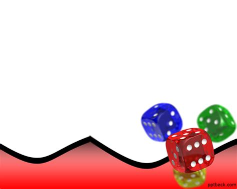 Backgammon Dice Free PPT Backgrounds for your PowerPoint