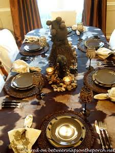 Afrocentric Home Decor an african safari themed table setting tablescape