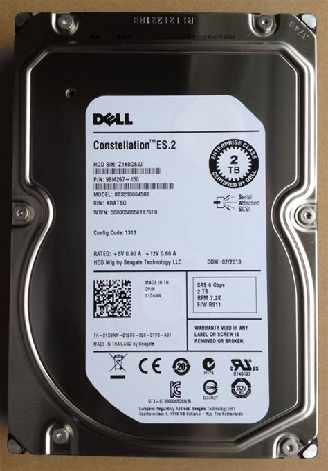 Hardisk Dell dell constellation es 9yz168 037 2tb sata drive