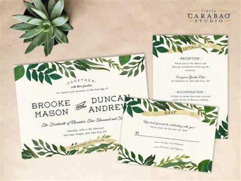Wedding Invitations Botanical