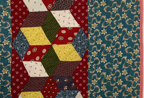 Quilt Squares For Sale by Tumbling Blocks In Bars Quilt For Sale At 1stdibs