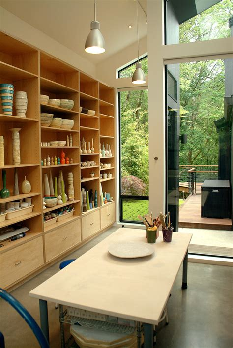 home office and studio designs art studio design home office contemporary with shelves