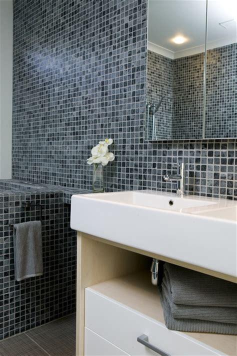 Modern Bathroom Mosaic Tile Island Silver Quartzitic Slate Classic Mosaic