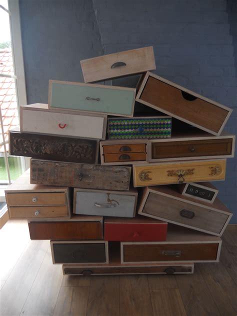 lade arredamento gelukt kast met oude lades idee droog design