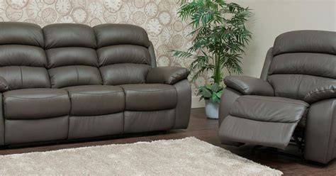 picasso reclining  seater leather sofa suite