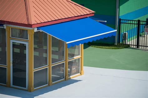 Sunbrella Retractable Awning by Commercial Shade Fabrics Sunbrella