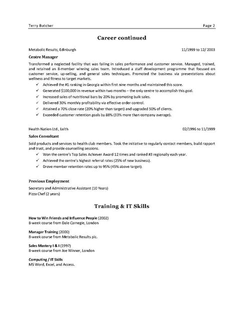 cv cover letter ireland sle cv humanities bio data