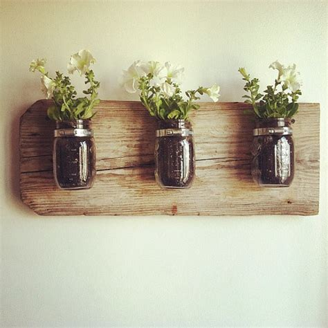 wall planter indoor mason jar wall planter by chateau gerard contemporary