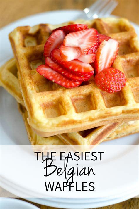 best belgian waffle recipe the best easy belgian waffle recipe the chronicles of home