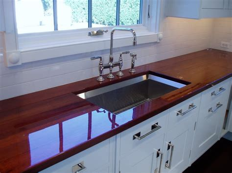 bar top finish wood countertop finish options brooks custom
