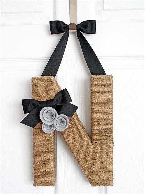Outdoor Kitchens Ideas Pictures jute covered monogram wreath hgtv