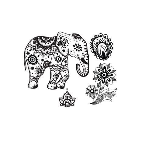 mandala tattoo elephant meaning indian elephant temporary tattoo set stay at home gypsy