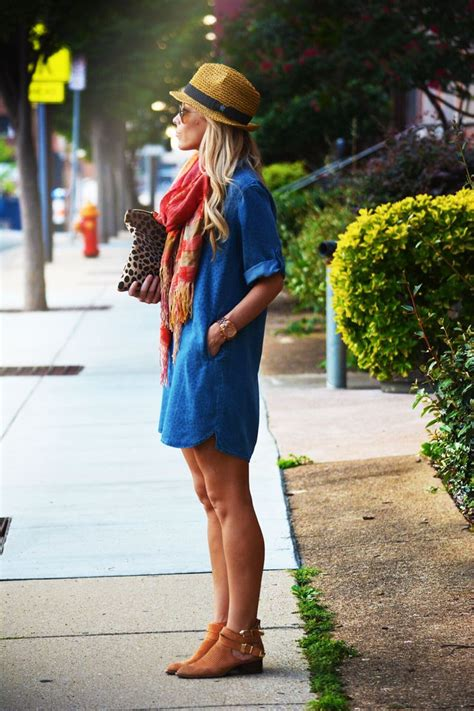 blue jean dress with boots which tint of shoes can wear with blue attire fashion