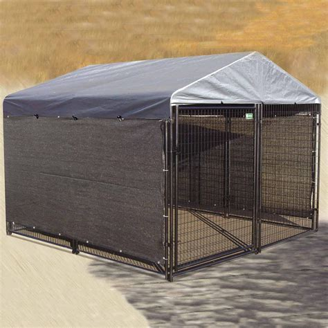 kennel cover kennel shade kit windscreen cover side weather guard shelter large outdoor ebay