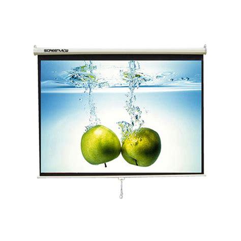 Screen Projector Manual 84 213x213cm Layar Proyektor Manual jual layar proyektor screenview manual wall screen harga spesifikasi review multikaweb