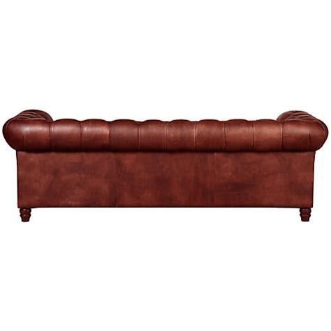 Large Chesterfield Sofa Buy Halo Earle Large Chesterfield Leather Sofa Lewis