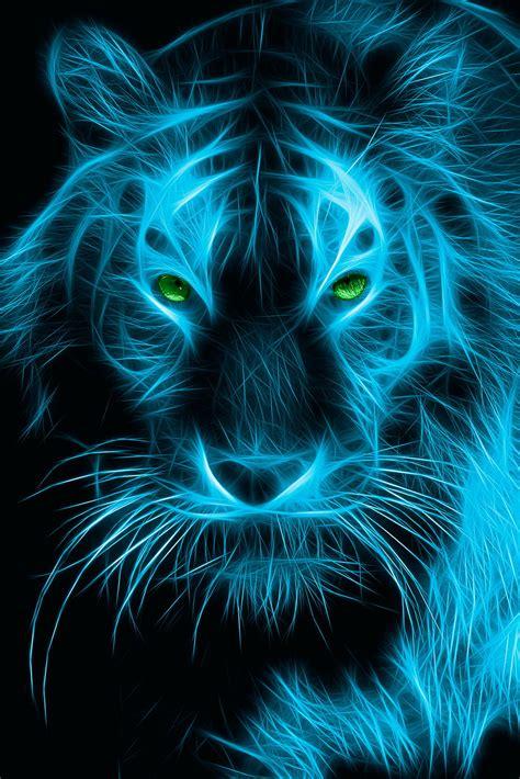 neon tiger  wallpapers hd wallpapers  desktop