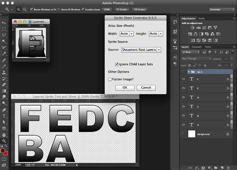 Adobe Photoshop Sprite Tutorial | photoshop sprite sheet generator script john wordsworth
