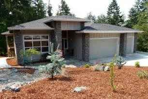 House Plans With Daylight Walkout Basement prairie style hood river accomodates a sloped lot