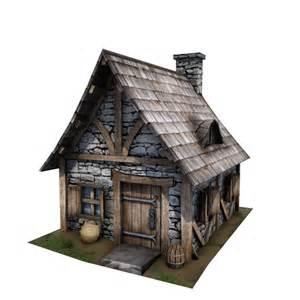 3d House Building Games 3d medieval cottage buildings model