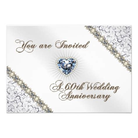 Card Template For 60th Silver Anniversary by Wedding Invitation Wording Wedding Anniversary