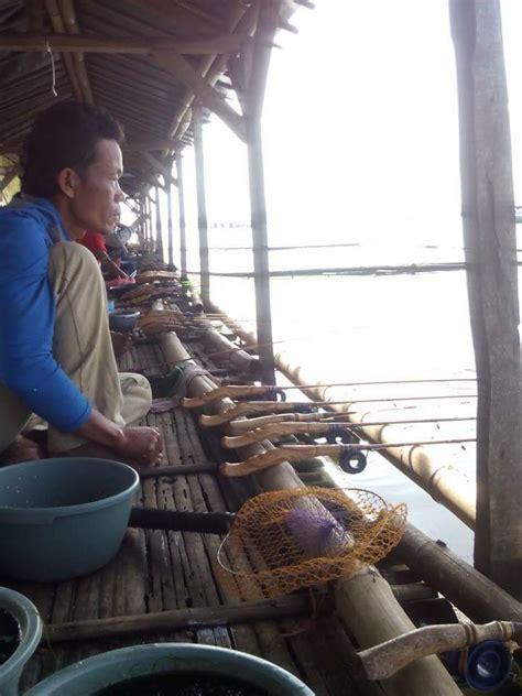 Joran Pancing Waduk mancing ikan nila babon di rakit calingcing waduk cirata